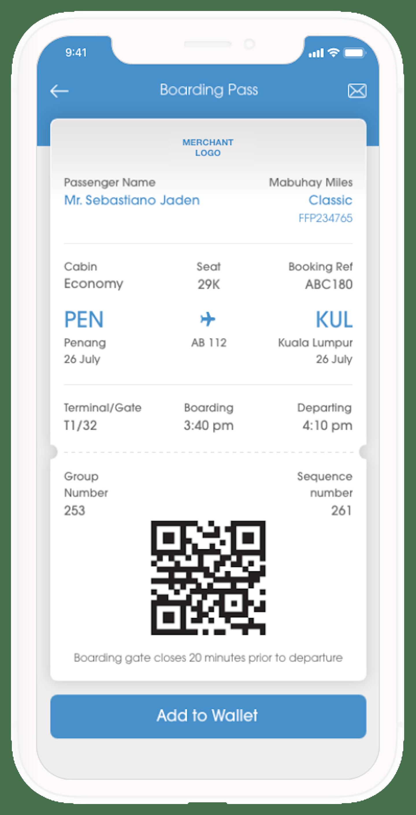 ADC Serve Self Check in Boarding Mobile