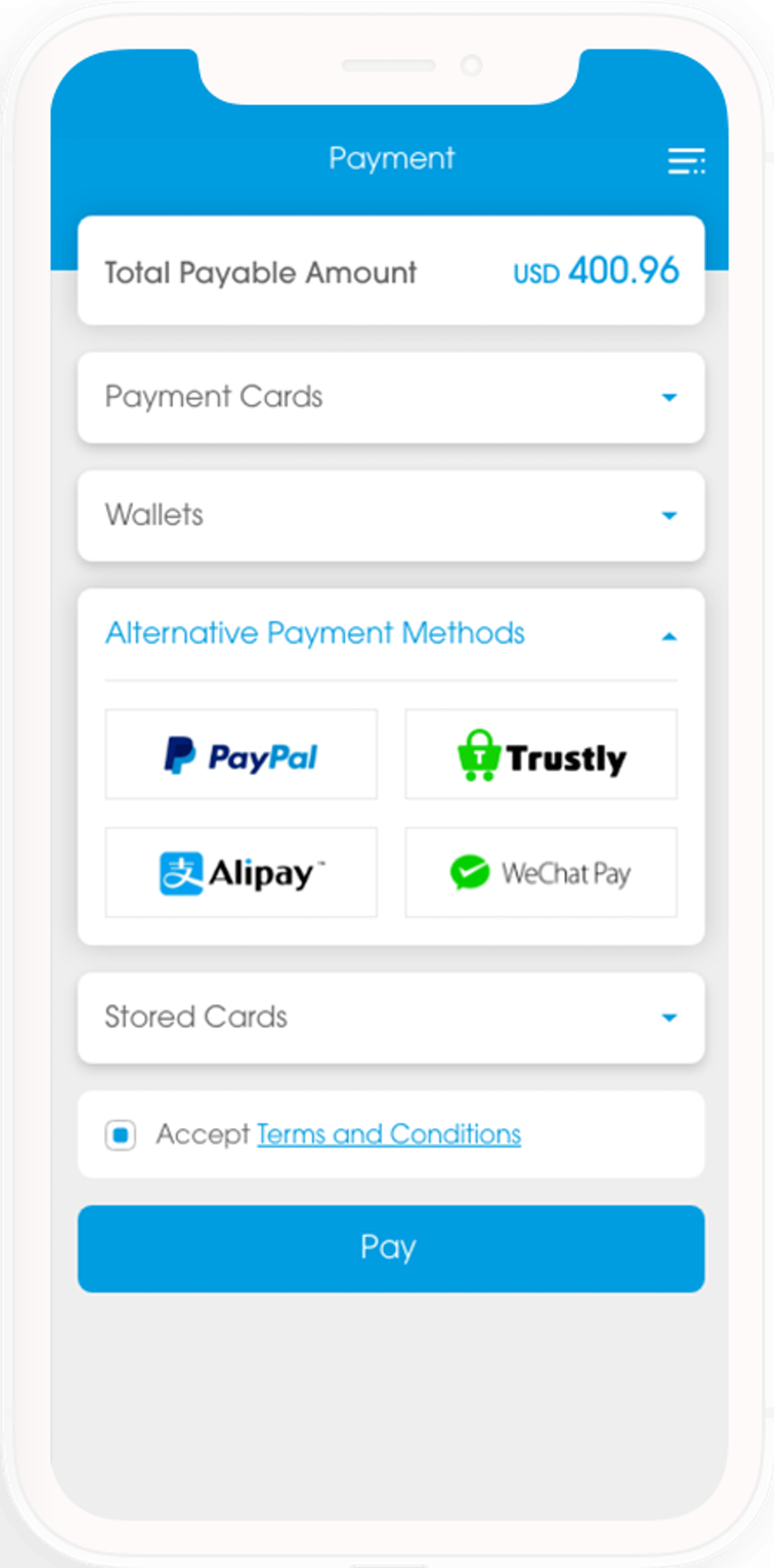 Voyage Alternative Payment Hub enabling to integrate across all channels any global or local alternative payment methods like third party wallet, bank transfers, mobile payment, installment and cash-based payment methods