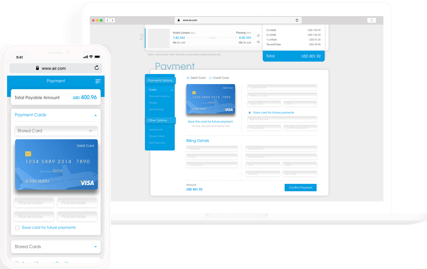 Velocity responsive Hosted Payment Pages powering seamlessly laptop, desktop or mobile devices